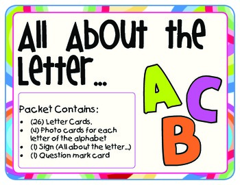 All About the Letter Pocket Chart Activity - Printable