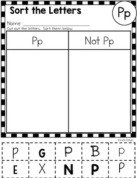 Letter P Activities