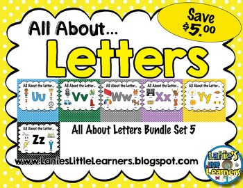 All About the Letter SMARTBoard Bundle 5