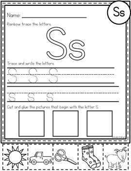 Letter S Activities