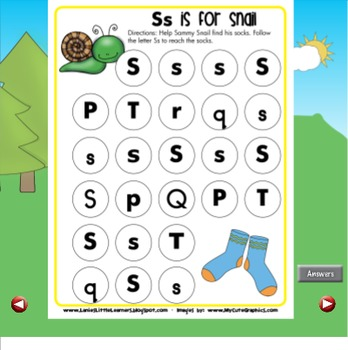 All About the Letter Ss {Letter of the Week SMARTboard Activities}