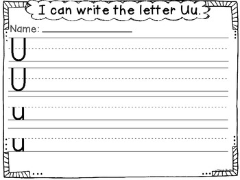 All About the Letter Uu