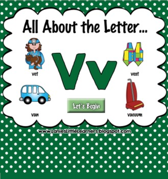 All About the Letter Vv {Letter of the Week SMARTboard Act