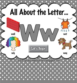 All About the Letter Ww {Letter of the Week SMARTboard Act