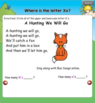 All About the Letter Xx {Letter of the Week SMARTboard Activities}
