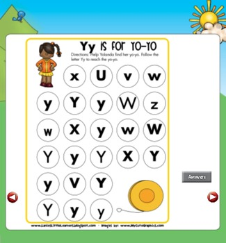 All About the Letter Yy {Letter of the Week SMARTboard Activities}