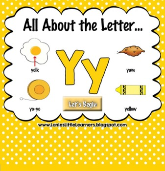 All About the Letter Yy {Letter of the Week SMARTboard Act