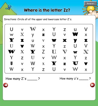 All About the Letter Zz {Letter of the Week SMARTboard Activities}