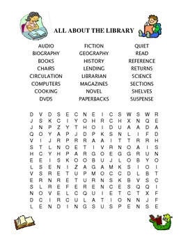 All About the Library Word Find