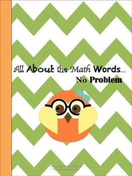 All About the Math Words...No Problem