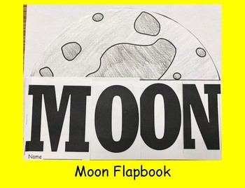 All About the Moon Flapbook