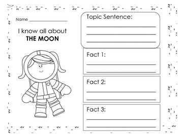 All About the Moon: Graphic Organizer