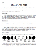 All About the Moon Reading Passage and Questions