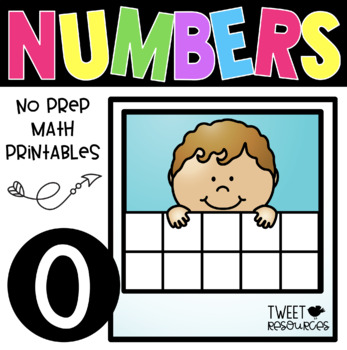 All About the NUMBER ZERO NO PREP Kindergarten Math Printables