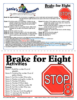 All About the Number 8 - Break for Eight Activity Pack