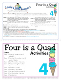All About the Number Four: Four is a Quad Activity Pack