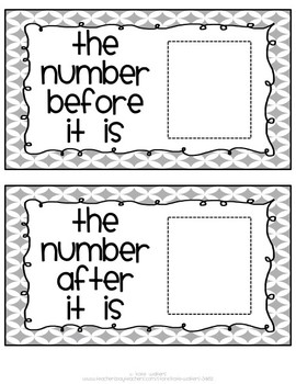 All About the Number {Math Card Set Aligned to Common Core}