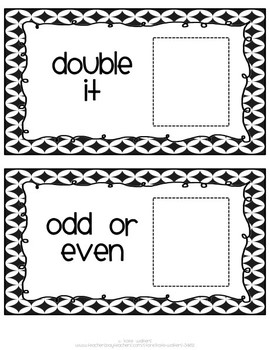 All About the Number {Math Task Cards Aligned to Common Core}