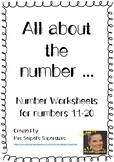 All About the Number ... Numbers 11-20 Worksheets