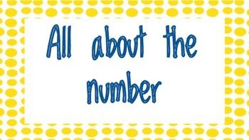 All About the Number Posters-Kinder Calendar Math