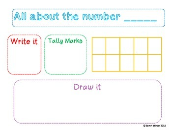 Number Recognition 0-20 book