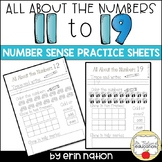 All About the Numbers 11 through 19 {K-1 number practice sheets}