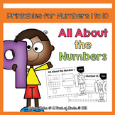 All About the Numbers: Printables for Numbers 1 to 10