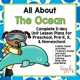 All About the Ocean 5-Day Lesson Plan for Preschool, PreK, K, & Homeschool