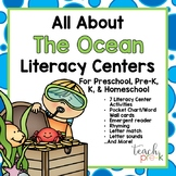 All About the Ocean Literacy Centers for Preschool, PreK, K & Homeschool