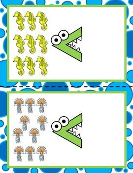 All About the Ocean Math Centers for Preschool, PreK, K, & Homeschool