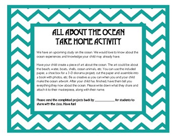 All About the Ocean Take Home Activity