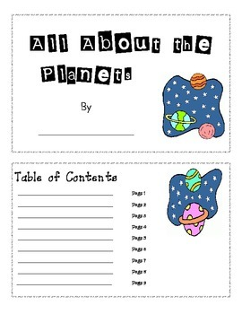All About the Planets Book and Enrichment Activity