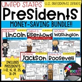 All About the Presidents: BUNDLE!  Biographies, Graphic Organizers, & Timelines