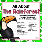 All About the Rainforest 5-Day Lesson Plan for Preschool, PreK, K & Homeschool