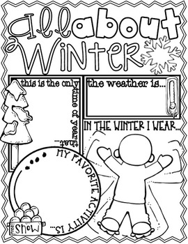 All About the SEASONS Posters (Fill In & Color Me Posters for the Four Seasons)