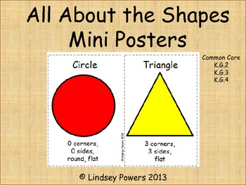 All About the Shapes Mini Posters