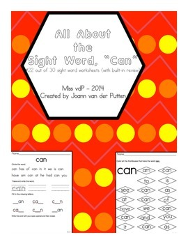 All About the Sight Word CAN