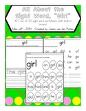 All About the Sight Word GIRL