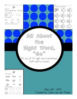 All About the Sight Word GO