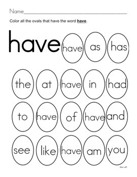 All About the Sight Word HAVE