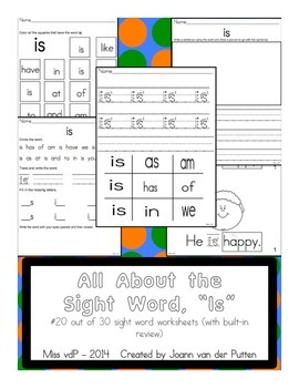 All About the Sight Word IS