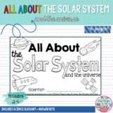 All About the Solar System mini-book