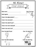 All About the State Maryland Worksheets. 2nd-5th Grade US