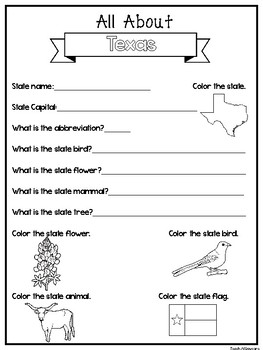 Texas Worksheets | Teachers Pay Teachers