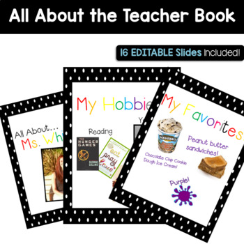 EDITABLE All About the Teacher Book!