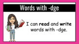 All About the Trigraph -dge