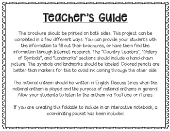 United States of America - Research Project - Interactive Notebook - Mini Book