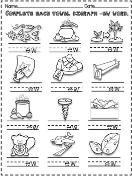 All About the Vowel Digraph ew! - Word Work!