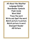 All About the Weather/ Language Builder/ABA/Verbal ABA/ESOL/Autism