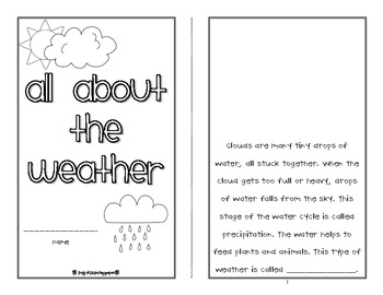 all about the weather printable mini book by first grade fanatics. Black Bedroom Furniture Sets. Home Design Ideas